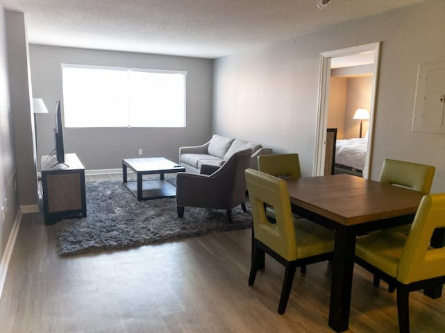 Stay Downtown | 2BR with Pool and Free Parking