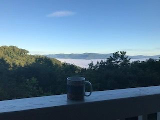 Mornings with coffee and a view off the Master bedroom Porch