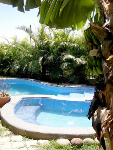 Pool and jaccuzzi