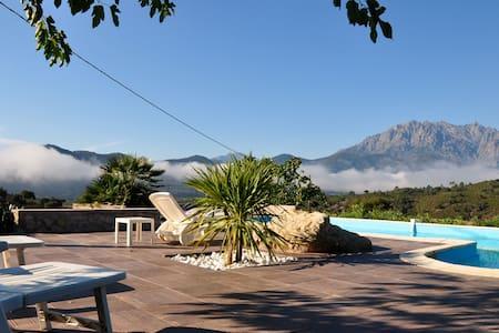 bergerie en pierre avec piscine - Canavaggia
