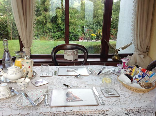 Conservatory ready to serve breakfast