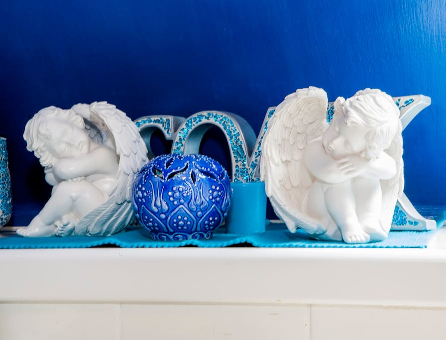 Angelic, serene toilet for all your pampering needs.