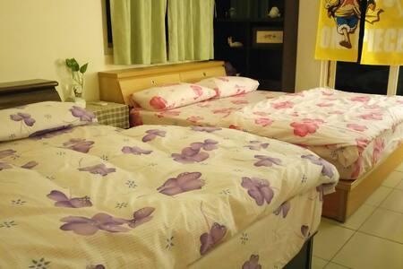 住家公寓,耐斯商圈獨立套房,獨立衛浴,兩張大床,可住家庭 - TW - อพาร์ทเมนท์