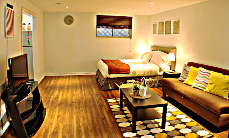Bright Private Apartment Near Pearson Airport
