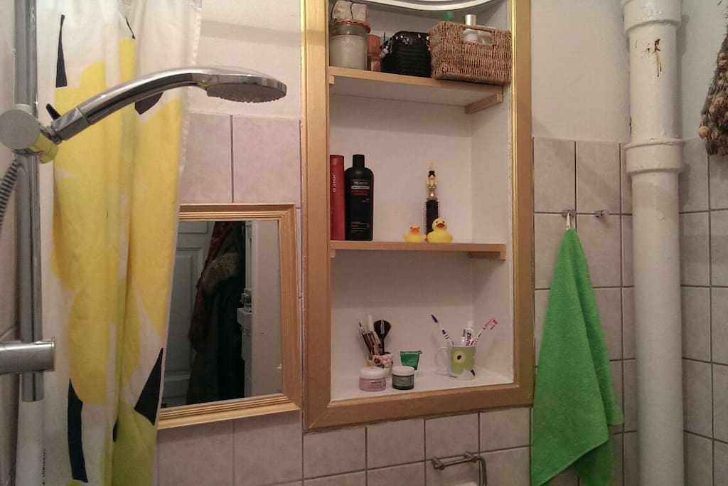 Small bathroom with a very good and powerful shower:-)