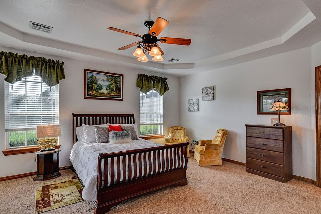 Comfortable Airy Master Suite