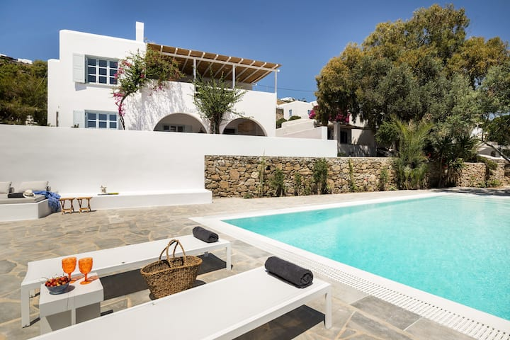 Bougain Villa, Agios Ioannis, 5* Villa By the Sea