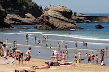 La grande plage de Biarritz à 20 min en voiture