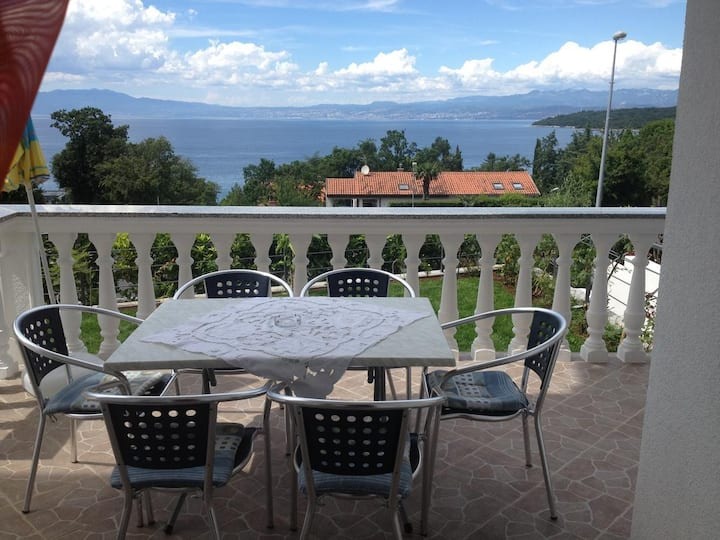 Two bedroom apartment with terrace and sea view Njivice, Krk (A-5295-b)