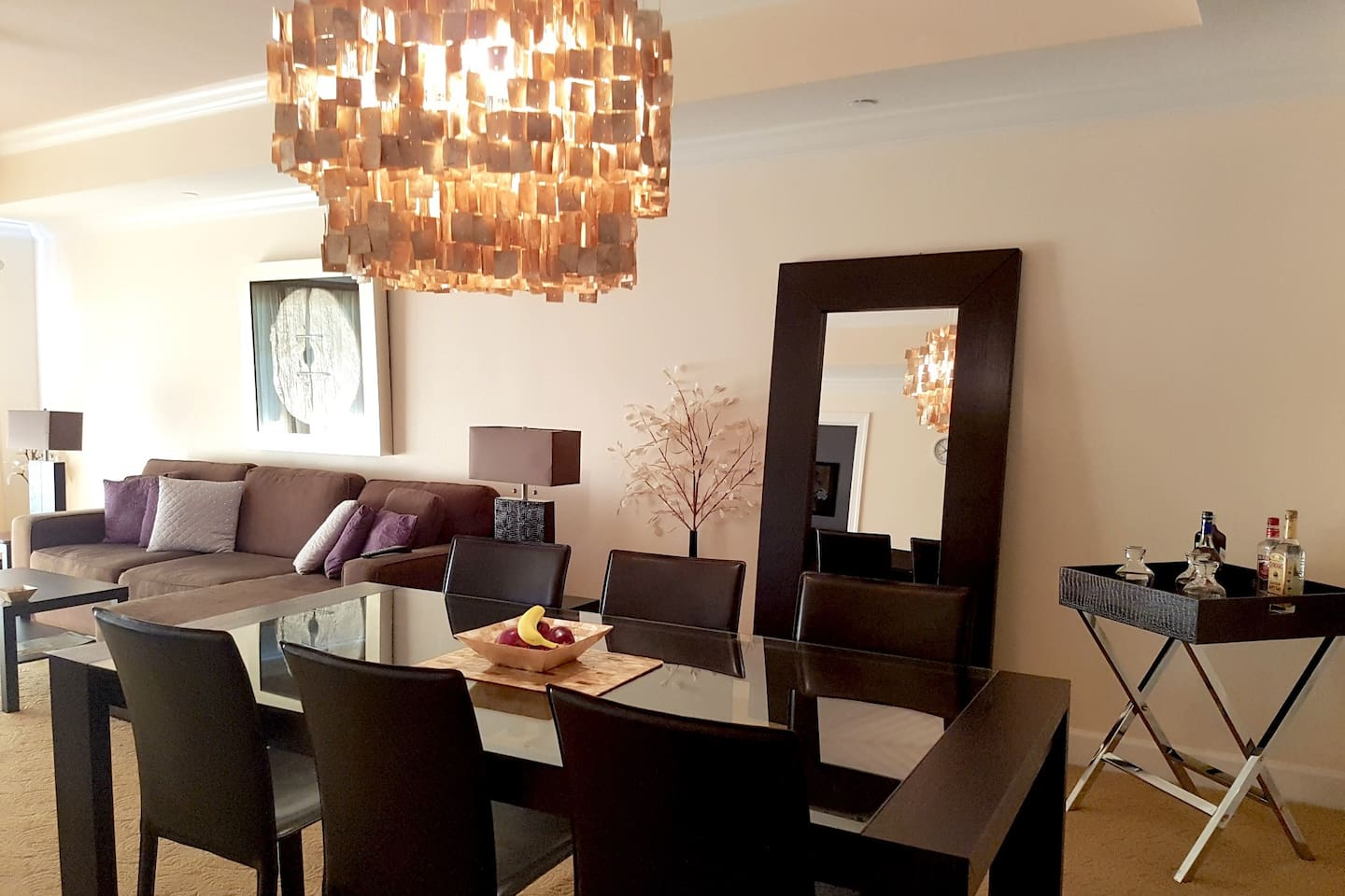 Luxurious and comfortable sitting and dining area.