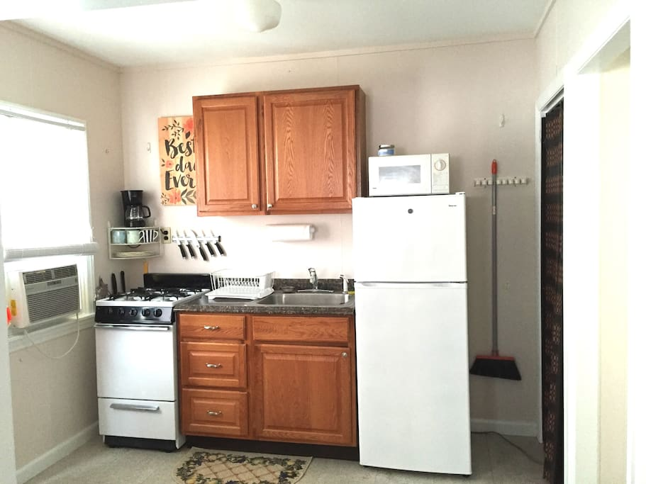 A full kitchen for all of your food needs while on vacation.