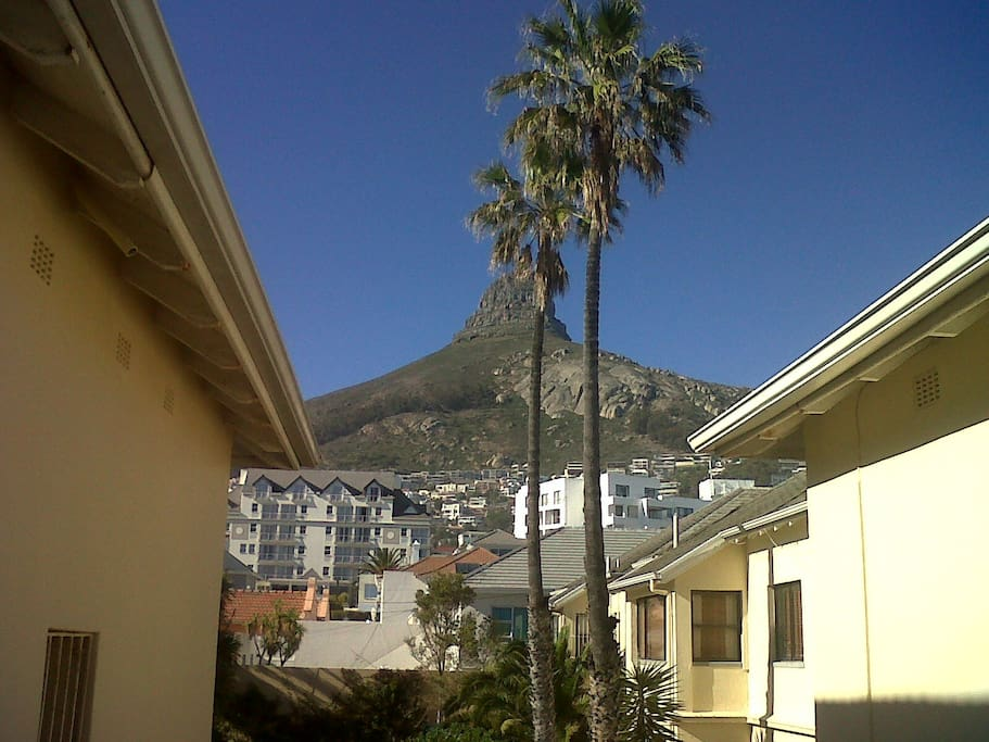 This is the view with your back to the beach, from the front door of my flat.