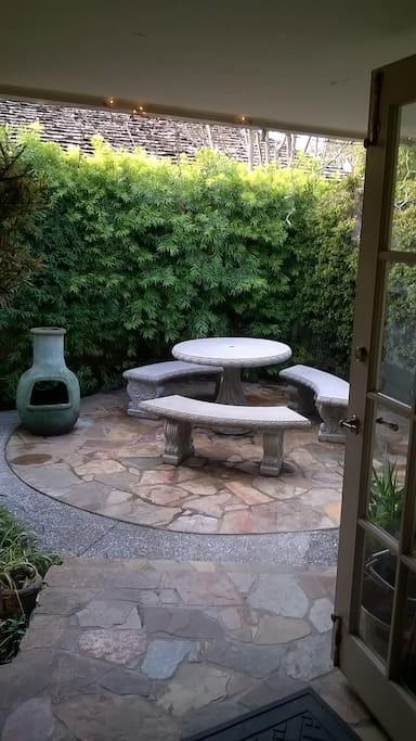 Foyer meditation garden