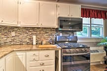 The kitchen has brand new appliances and expansive countertops.