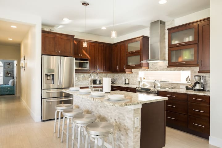 Kitchen designed for family gathering