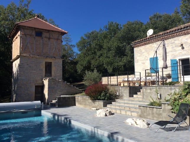 maison de vacances piscine et spa - Cazals - House