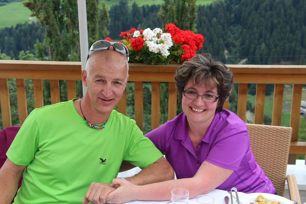 Gastgeber Helmut und Helga Spiess
