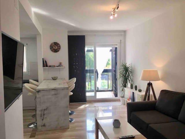 Acogedor apartamento a pie de playa.