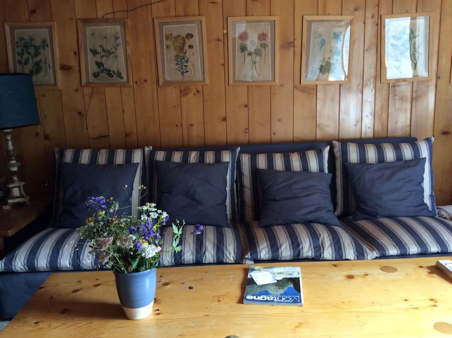 Il divano a 4 posti