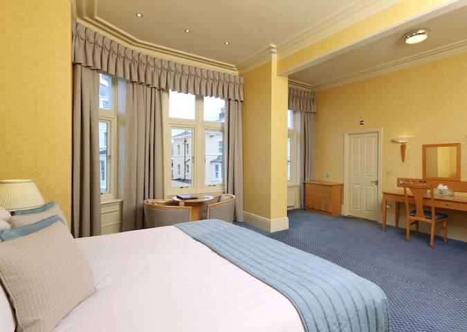 Double room with side facing sea views