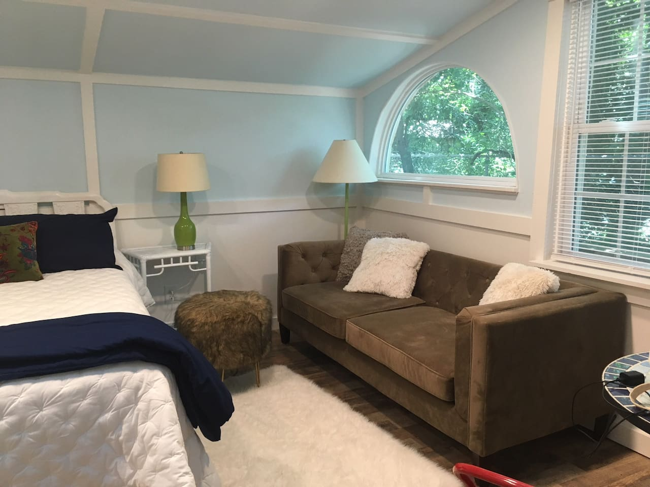 Sunny Bedroom with couch