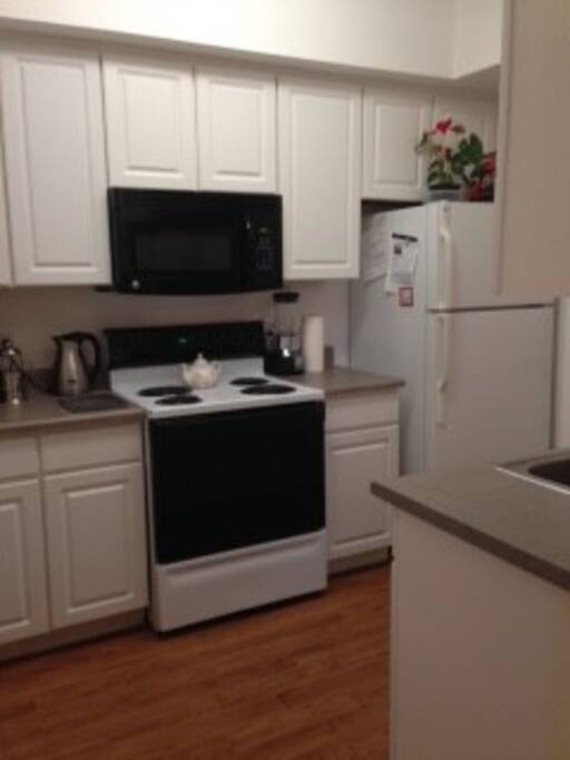 Refridgerator, oven/stove, microwave, and dishwasher included
