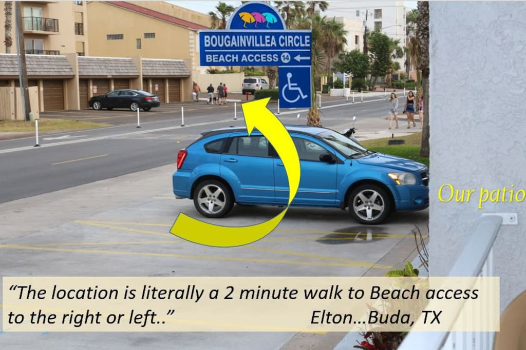 """""""The location is literally a 2 minute walk to beach access to the right or left.""""   ~Elton...Buda, TX"""