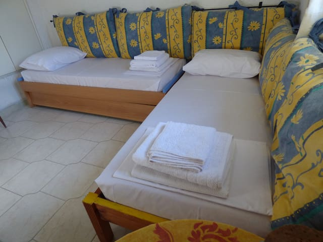 Room with 2 Beds + 1 sliding Bed