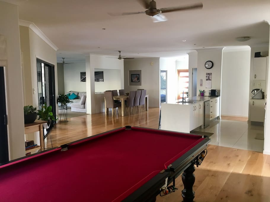 Pool table/open plan living