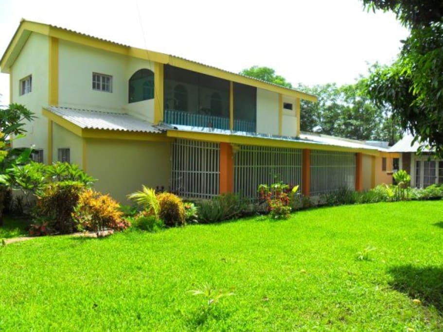 Big backyard with Mango and Avocado trees