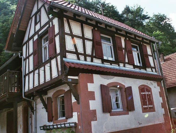 """maison typique en Alsace du nord """"S'Hiesele"""""""