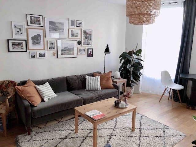Cosy appartement 3 pers. (5min de/from Paris)