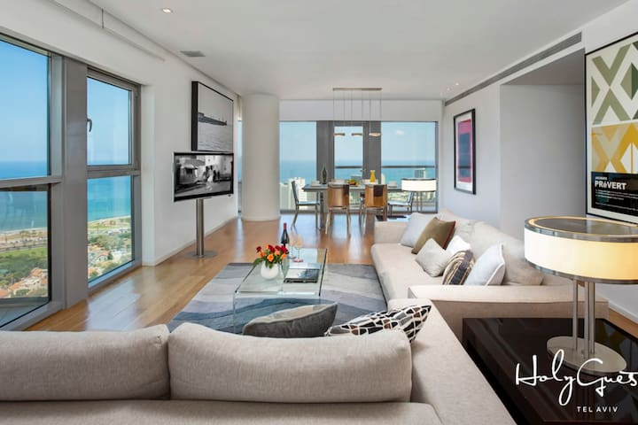 2 LARGE TERRACES*SEA VIEW*TRENDY*BY HOLYGUEST