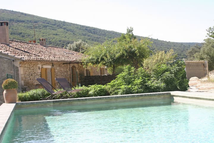 Restored farmhouse with private pool, pool house and summer kitchen