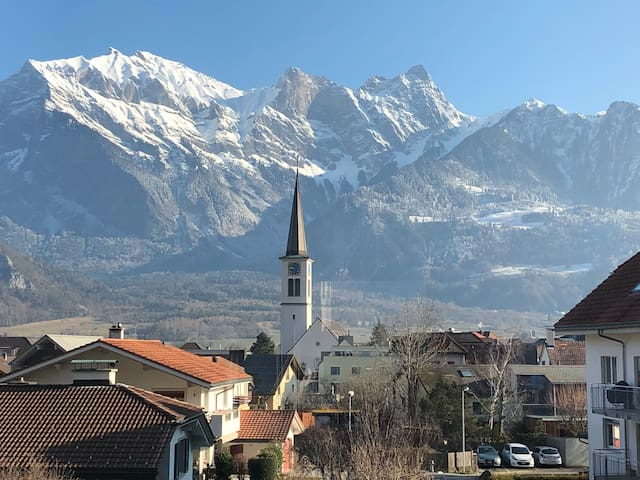 Room in a 2 bedroom apartment in Bad Ragaz