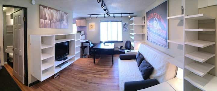 Quiet Home Office Extended Stay Studio Apartment
