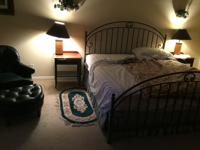 big master bedroom , quiet, gated community.