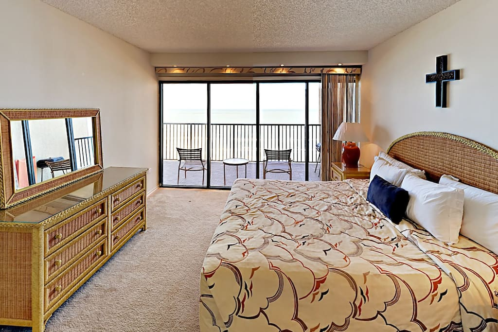 Snooze soundly in a king-size bed in the master bedroom.