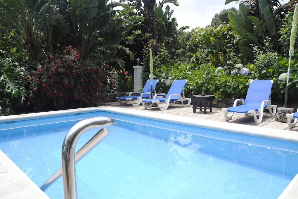 Casa Rural Los Castaños en Icod de los Vinos (Tenerife) piscina