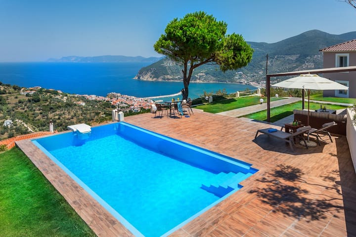 Villa Savvina with stunning view