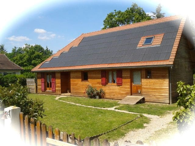 Entre Paris et Normandie, un chalet - Moisson - Bed & Breakfast