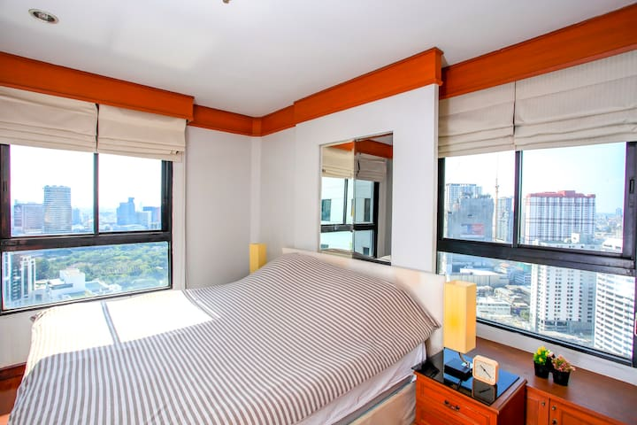 ★Top of Pratunam Cozy 2BD ★ | Kitchen | TOP Floor! - Bangkok - Kondominium