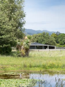 Private studio near the river - Waikanae - Blockhütte