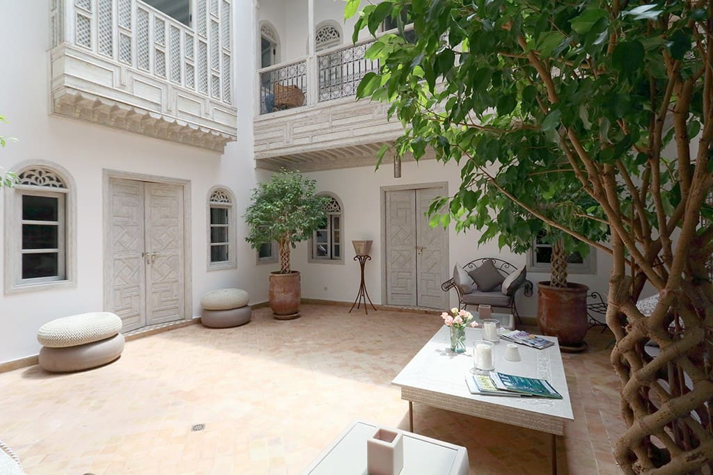 Another view of the courtyard with direct access to the 3 bedrooms downstairs.