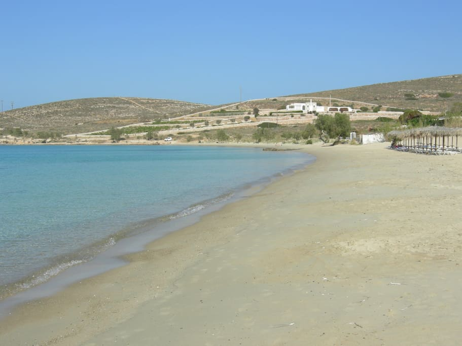 The beach of Krios, 20 meters away.