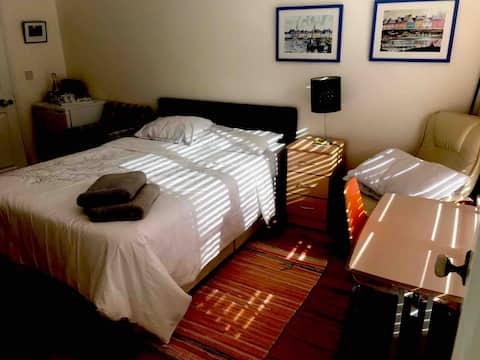 Ground floor, self-contained suite, King Size bed.