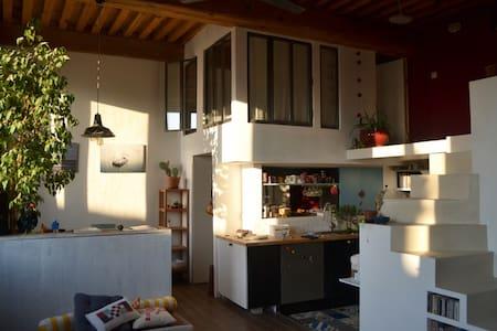 Chambre cosy en mezzanine dans appartement Canut - Lyon - Wohnung
