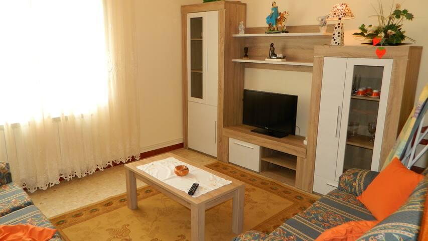Wohnung am Carnota-Strand mit Aussenbereich
