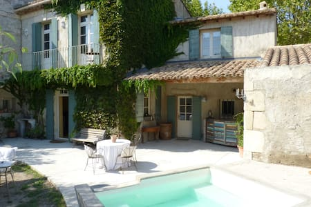 House Provencal of the 18th, swimming pool-Spa - Vallabrègues - Rumah