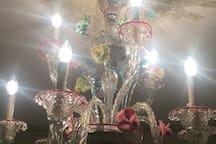 Lampadario di murano camera smeraldo